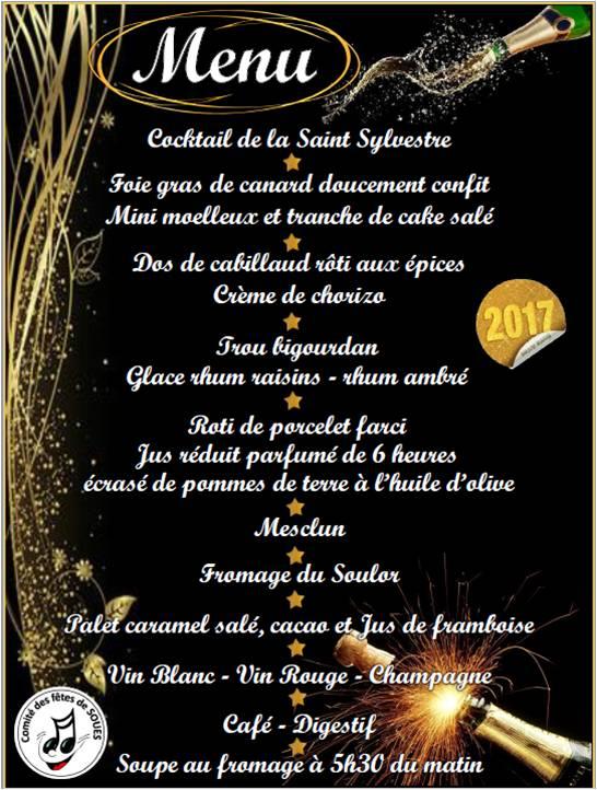 Reveillon du 31 d cembre actualit s mairie de soues - Idee repas reveillon 31 decembre ...