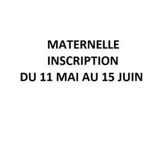 Inscription des enfants à l'école maternelle  du 11 mai au 15 juin