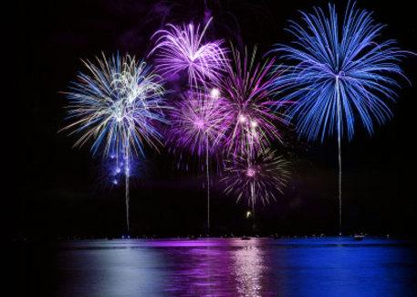 Feu d'artifice jeudi 14 juillet à 22h45 sur le lac