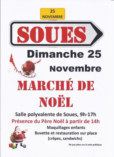 MARCHE DE NOËL organisé par le club SOUES BARBAZAN BIGORRE HANDBALL
