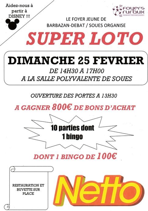 loto le dimanche 25 février 2018