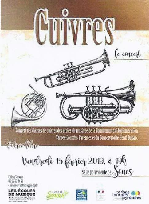 Soues   -  CUIVRES - Le Concert des Ecoles de Musique de Tarbes Lourdes Pyrénées