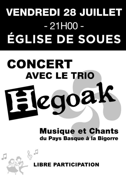 concert le 28 juillet à Soues