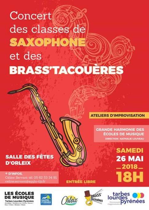 concert des classes de  saxophone