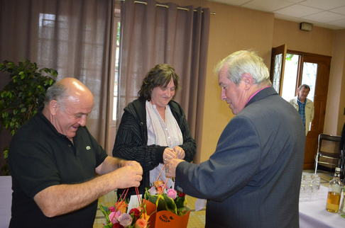 Remerciement des bénévoles par Roger LESCOUTE Maire de Soues