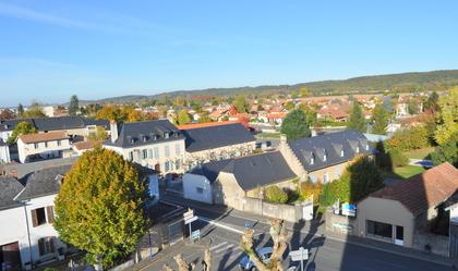 Mairie de Soues vue du clocher