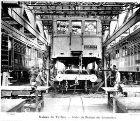Montage d'une locomotive
